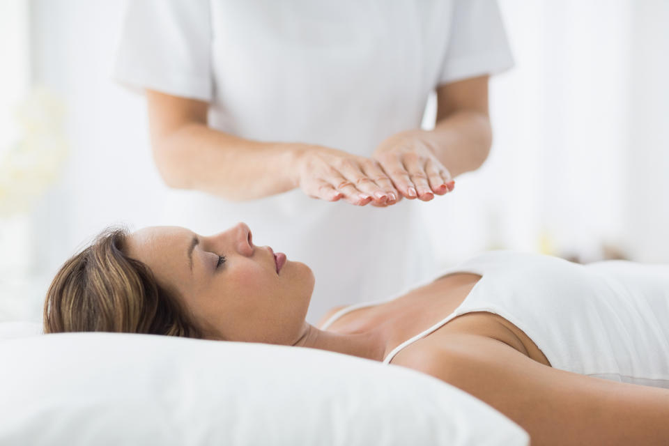Reiki holistic therapy, book with Syner-chi Wellbeing Newport South